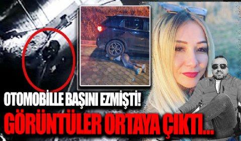 Dilek Kuşçu otomobil ile sevgilisinin başını ezmişti: Kan donduran olayın görüntüleri ortaya çıktı!