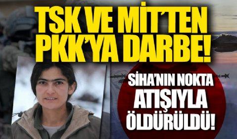 TSK ve MİT'ten PKK'ya darbe: Sözde kadın sorumlusu SİHA'nın nokta atışıyla öldürüldü
