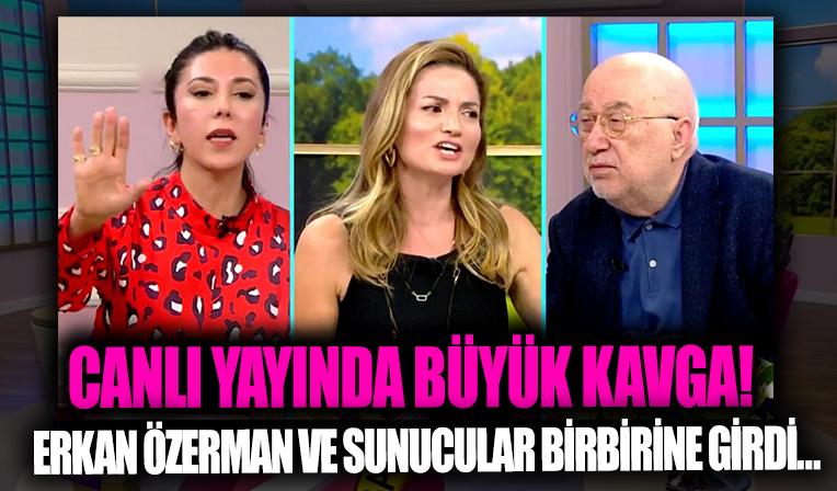 2. Sayfa sunucuları ve Erkan Özerman canlı yayında kavga etti