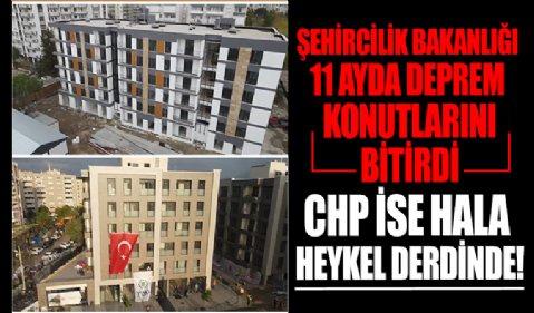 CHP'li İzmir Büyükşehir Belediyesi'nden deprem heykeli