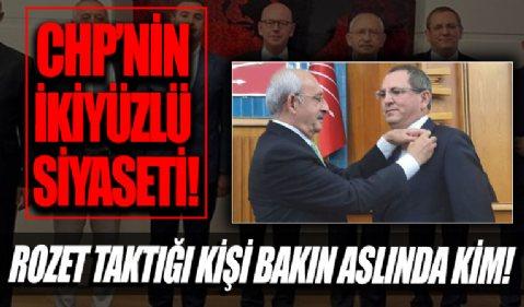 CHP'nin ikiyüzlü siyaseti! Aday göstermediği başkana, gururla rozet taktı