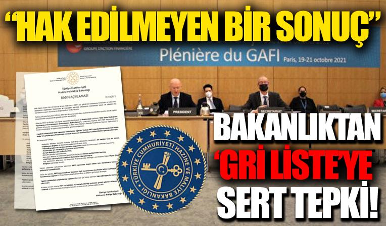 Hazine ve Maliye Bakanlığından FATF'nin Türkiye'yi 'gri listeye' almasına ilişkin açıklama
