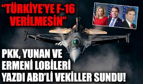 ABD'li vekillerden PKK destekli 'Türkiye'ye F-16 verilmesin' mektubu
