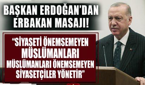 Başkan Erdoğan'dan Milli Görüş Sempozyumu'na video mesaj!