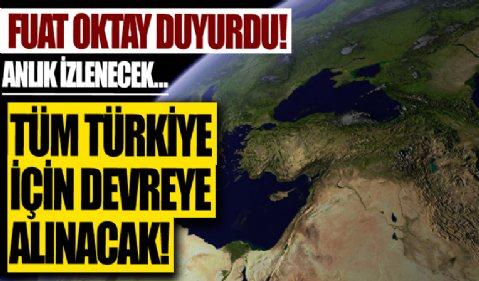 Cumhurbaşkanı Yardımcısı Fuat Oktay açıkladı: Tüm Türkiye için devreye alınacak