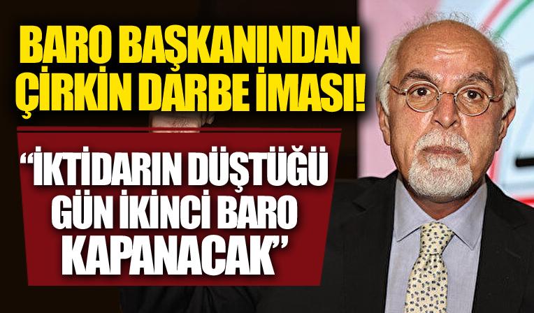 İstanbul 1 Nolu Barosu Başkanı Durakoğlu: İktidarın düştüğü gün ikinci baro kapanacak