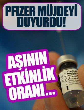 Pfizer müjdeyi duyurdu! Koronavirüs aşısının etkinlik oranı…