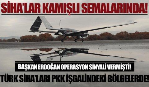 Türk SİHA'ları PKK kontrolündeki Kamışlı ve Ayn el Arab semalarında