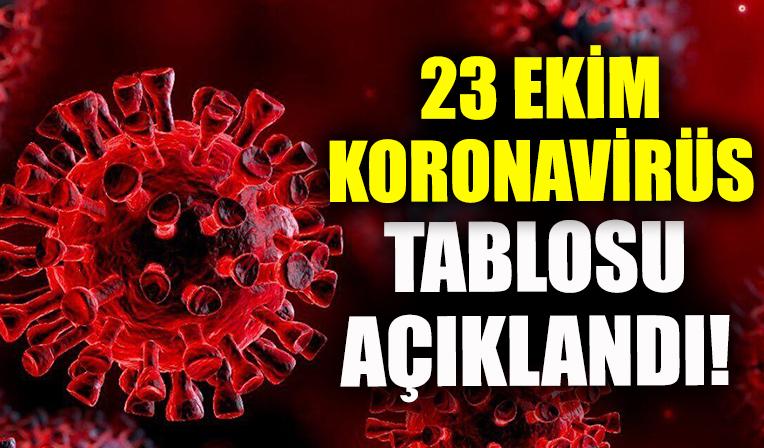 23 Ekim koronavirüs verileri açıklandı!