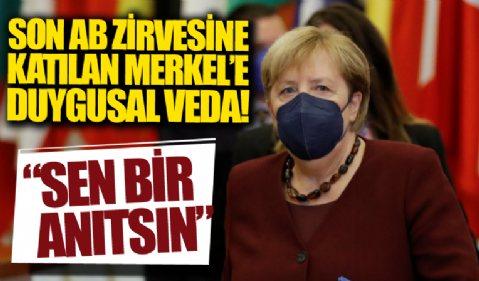 Angela Merkel, katıldığı son AB zirvesinde mevkidaşlarıyla vedalaştı