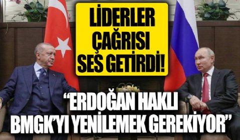 Başkan Erdoğan'ın çağrısı ses getirdi: 'Erdoğan haklı, BMGK'yı yenilemek gerekiyor