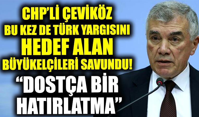 CHP'li Ünal Çeviköz Türk yargısını hedef alan büyükelçileri savundu: Dostça bir hatırlatmada bulundular