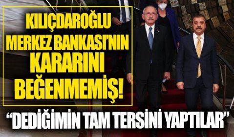 Kemal Kılıçdaroğlu'ndan Merkez Bankası'na beni dinlemediler sitemi