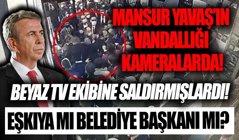 Mansur Yavaş'ın korumaları gazeteciyi yumrukladı! İşte vandallığın görüntüleri...