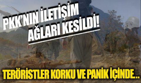 PKK'nın iletişim ağları kesildi: Teröristler korku ve panik içinde...