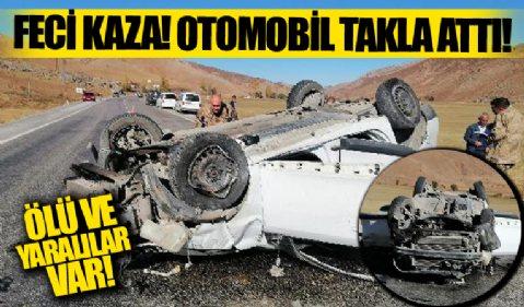 Bitlis'te feci kaza! Otomobil takla attı: Ölü ve yaralılar var