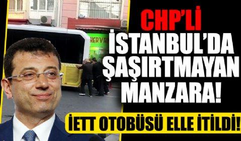 CHP'li İstanbul'da 'şaşırtmayan manzara' İETT otobüsü elle itildi!