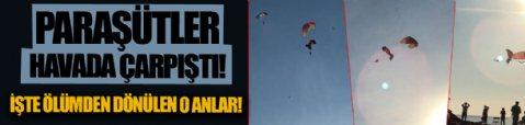 Fethiye'de paraşüt pilotları havada çarpıştı, denize düştü! İşte ölümden dönülen o anlar!
