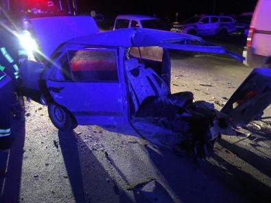 Isparta'da Kaza Sonrasi Otomobil Ikiye Bölündü Açiklamasi 4 Yarali Haberi