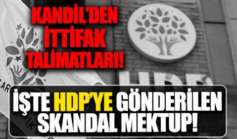 İşte HDP'ye gönderilen mektup: Kandil'den ittifak talimatları