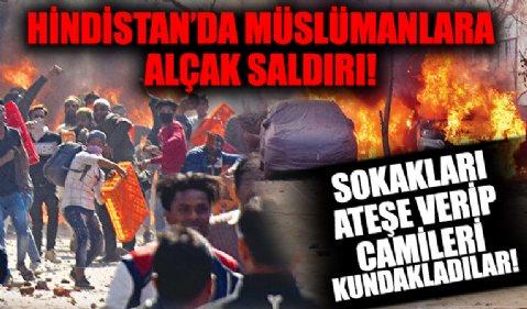 Hindistan'da çetelerden Müslümanlara saldırı! Sokak sokak talan edip, ateşe verdiler...