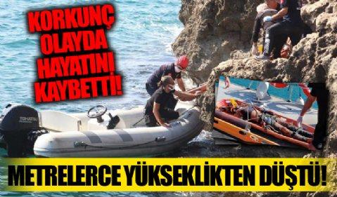 Antalya'da korkunç olay! Metrelerce yükseklikten düşen şahıs hayatını kaybetti