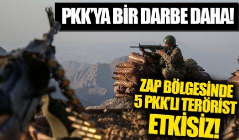 MSB duyurdu: Zap bölgesinde 5 PKK'lı terörist etkisiz hale getirildi