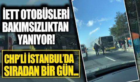 Başakşehir'de İETT otobüsünde yangın