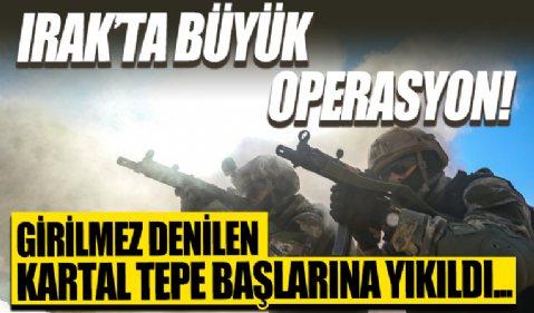 Irak'ın kuzeyinde büyük operasyon: Terör yuvası Kartal Tepe'de çok sayıda terörist etkisiz hale getirildi!