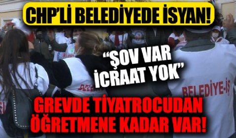 CHP'li Bakırköy belediyesinde isyan var! Zam alamayan işçiler belediye önündeki grevlerinin 4. gününde!
