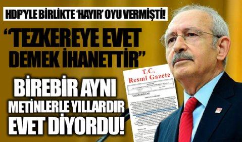 HDP'yle birlikte 'Hayır' oyu demişti! Kılıçdaroğlu'ndan tepki çeken sözler: Tezkereye 'Evet' demek Cumhuriyet'e ihanettir