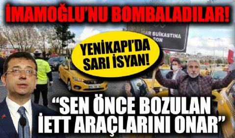 Taksicilerden UKOME öncesi Yenikapı'da eylem: Esnaf burada İmamoğlu nerede?