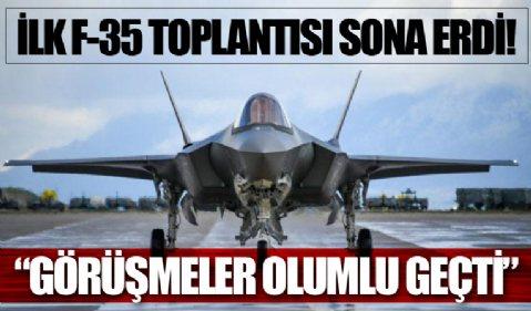 Türkiye ve ABD heyetleri arasında ilk F-35 toplantısını tamamladı: 'Görüşme olumlu geçti'