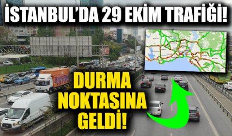 Yarım günlük mesai, İstanbul'da trafiği olumsuz etkiledi!