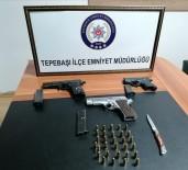Şüphe Üzerine Durdurulan Araçta 3 Silah Bulundu