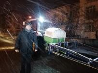 Çan'da Karla Mücadele Çalışmalarında Solüsyon Kullanılıyor