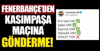 Fenerbahçe, Galatasaray maçının ardından paylaşımda bulundu