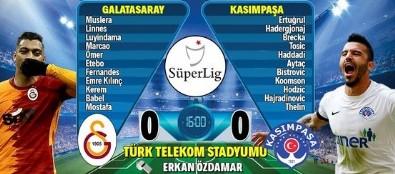 Galatasaray-Kasımpaşa maçının 11'leri...
