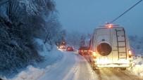 Kastamonu-Bartın Karayolu Kar Yağışı Nedeniyle Ulaşıma Kapandı