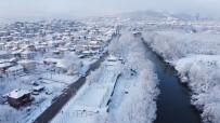 Bartın Irmağında Kar Manzaraları Havadan Görüntülendi