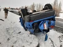 Eleşkirt'te Trafik Kazası, 1 Yaralı