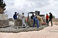 Ceylanpınar'da Kilitli Parke Döşeme Çalışmaları Sürüyor