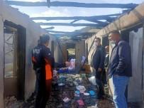 Bucak'da Çıkan Yangında Ev Kullanılamaz Hale Geldi