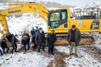 Zincidere Göleti'nde Kar Altında Çalışmalar