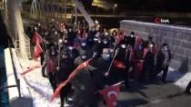Ardahan'ın Düşman İşgalinden Kurtuluşunun 100. Yıl Dönümünde Meşaleli Yürüyüş Yapıldı