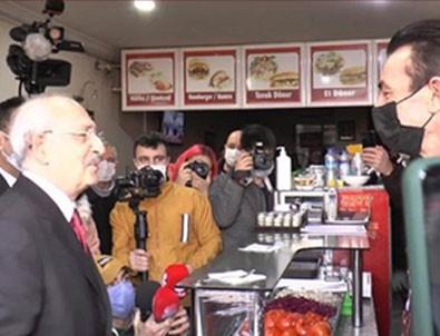 Dükkan sahibi Kılıçdaroğlu'na döner tattırmak isteyince olanlar oldu!