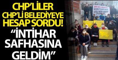 CHP'li başkana belediye önünde böyle hesap sordular