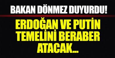 Akkuyu Nükleer Güç Santrali'nde 3. Reaktörün temelini Erdoğan ve Putin atacak