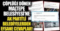 LOKMAN ÇAĞRICI - Çöp tepelerinin kapladığı Maltepe Belediyesi'ne AK Partili belediyelerden efsane cevaplar
