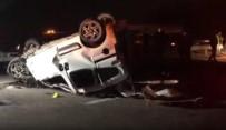 Iğdır'da Hafif Ticari Araç Otobüse Çarpıp Takla Attı Açıklaması 1 Ölü, 1 Yaralı